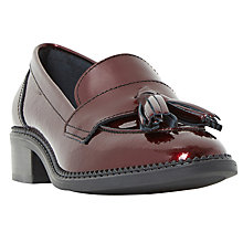 Buy Dune Glossie Tassel Block Heeled Loafers Online at johnlewis.com