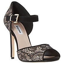 Buy Dune Mint Two Part Stiletto Sandals, Black Online at johnlewis.com
