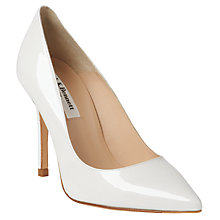 Buy L.K. Bennett Fern Pointed Toe Court Shoes, White Online at johnlewis.com