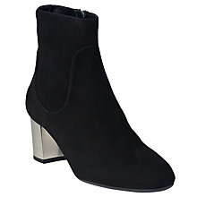 Buy L.K. Bennett Shannon Block Heeled Ankle Boots, Black Online at johnlewis.com