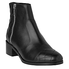 Buy L.K. Bennett Chiara Block Heeled Ankle Boots, Black Online at johnlewis.com