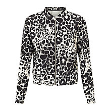 Buy Miss Selfridge Animal Print Bomber Jacket, Multi Online at johnlewis.com