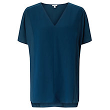 Buy Jigsaw Double Layer Top, Petrol Online at johnlewis.com