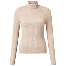 Buy Oasis Ribbed Roll Neck Jumper Online at johnlewis.com