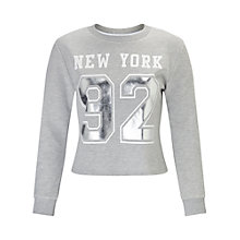 Buy Miss Selfridge Petites New York Jumper, Grey Online at johnlewis.com