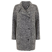 Buy Mint Velvet Textured Stand Collar Coat, Grey Online at johnlewis.com