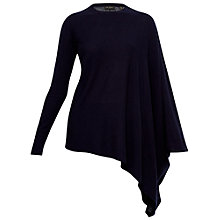Buy Ted Baker Janila Asymmetric Draped Jumper, Navy Online at johnlewis.com