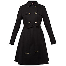 Buy Ted Baker Fit and Flare Wrap Mac, Black Online at johnlewis.com