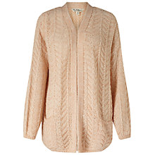 Buy Miss Selfridge Knitted Stitch Cardigan, Pink Online at johnlewis.com