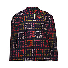 Buy Ted Baker Horticultural Check Cape, Navy Online at johnlewis.com