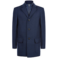 Buy Jaeger Mock Gilet Overcoat, Blue Online at johnlewis.com