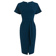 Buy Oasis Drape Belted Wiggle Dress, Turquoise Online at johnlewis.com