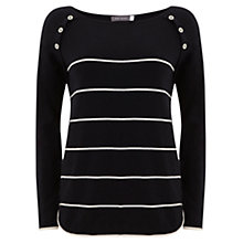 Buy Mint Velvet Striped Boxy Jumper, Navy Online at johnlewis.com