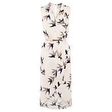 Buy Oasis Bird Wrap Midi Dress, Multi/Natural Online at johnlewis.com