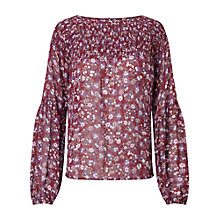 Buy Miss Selfridge Ditsy Print Blouse, Multi Online at johnlewis.com