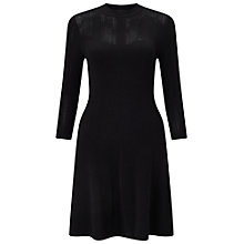 Buy Miss Selfridge Black Pointelle Fit And Flare Dress, Black Online at johnlewis.com