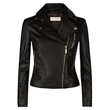Buy Hobbs Laurelle Biker Jacket, Black Online at johnlewis.com