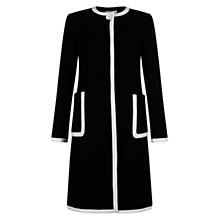 Buy Hobbs Scarla Coat, Black/Ivory Online at johnlewis.com