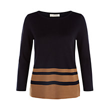 Buy Hobbs Verde Jumper, Navy/Camel Online at johnlewis.com