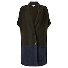 Buy Jigsaw Vertical Rib Slouchy Cardigan, Khaki Online at johnlewis.com