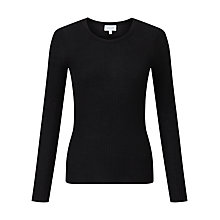 Buy Jigsaw Ribbed Pointelle Jumper Online at johnlewis.com