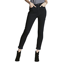 Buy Mint Velvet Joliet High Waisted Jeans, Black Online at johnlewis.com