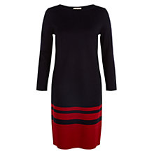 Buy Hobbs Elsa Dress, Navy/Red Online at johnlewis.com