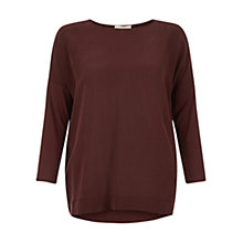 Buy Hobbs Callaghan Top, Burgundy Online at johnlewis.com