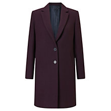 Buy Jigsaw Compact Wool Coat, Winter Plum Online at johnlewis.com