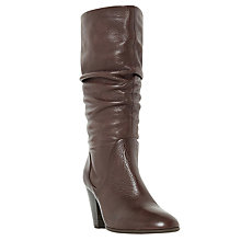 Buy Dune Rossy Block Heeled Slouched Calf Boots Online at johnlewis.com