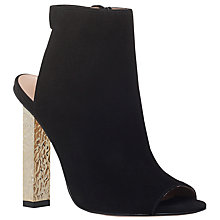 Buy KG by Kurt Geiger Night High Heel Ankle Boots, Black Suede Online at johnlewis.com
