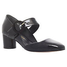 Buy Kurt Geiger Duchess Mid Heel Court Shoes, Black Patent Leather Online at johnlewis.com