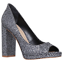Buy KG by Kurt Geiger Impulse Peep Toe Sandals, Pewter Online at johnlewis.com