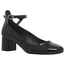 Buy Carvela Amber Mid Block Heel Court Shoes, Black Patent Online at johnlewis.com