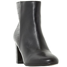 Buy Dune Opel Block Heeled Ankle Boots, Black Online at johnlewis.com
