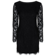 Buy True Decadence Long Sleeve Lace Dress, Black Online at johnlewis.com