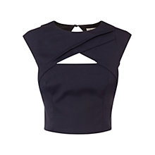 Buy Coast Talori Twist Front Crop Top, Navy Online at johnlewis.com