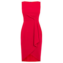 Buy Coast Drew Crepe Dress, Raspberry Online at johnlewis.com