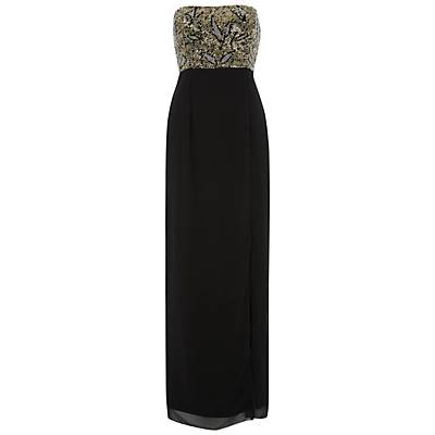 Raishma Bodice Maxi Dress, Black