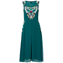 Buy Raishma Floral Dress, Green Online at johnlewis.com