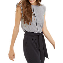 Buy Oasis Linen Look Shell Top, Grey Online at johnlewis.com
