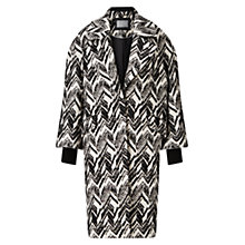 Buy Grace & Oliver Matilda Jacquard Cocoon Coat, Black Online at johnlewis.com