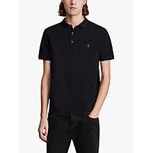 Buy AllSaints Reform Short Sleeve Polo Shirt, Ink Navy Online at johnlewis.com
