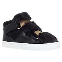 Buy Carvela Lovely Rip Tape Trainers, Black Online at johnlewis.com