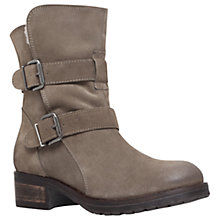 Buy Kurt Geiger Richmond Buckle Ankle Boots, Taupe Online at johnlewis.com