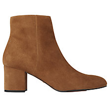 Buy Whistles Logan Block Heeled Ankle Boots Online at johnlewis.com