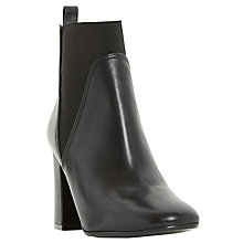 Buy Dune Ohio Square Toe High Heeled Chelsea Boots, Black Online at johnlewis.com