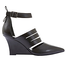 Buy Mint Velvet Cat Wedge Heeled Court Shoes, Black Online at johnlewis.com