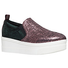 Buy KG by Kurt Geiger Lizard Flatform Trainers, Green Online at johnlewis.com