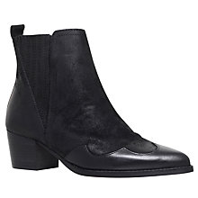 Buy KG by Kurt Geiger Saint Mid Heel Ankle Boots, Black Online at johnlewis.com